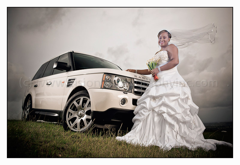 The Bride and her Range Rover