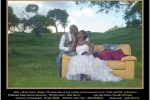 A bajan bride and groom living overseas have their wedding photos taken in the Barbadian fields and hills.